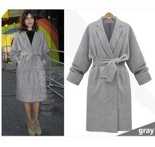 Best Wholesale Women Fashion Medium Long Workwear Woolen Jacket Turn down Collar Wool Coat