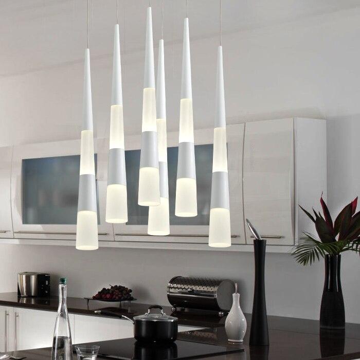 Lámpara pendiente moderna cono cilindro colgante luz colgante ...