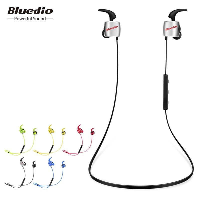 Bluedio TE original mini bluetooth trådløs øretelefon svedtæt sport øretelefon med mikrofon til telefon og musik headset