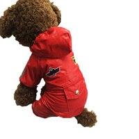 2 kolory Pilotażowe Płaszcz Kurtka Puppy Kapturem Płaszcz Siatka Oddychająca Psa Kombinezon Ubrania 5 Rozmiar Zagęszczony