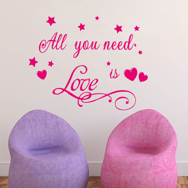 All You Need Stars vinyl sticker Removable waterproof Bedroom living room home decor Generation pvc wall stickers