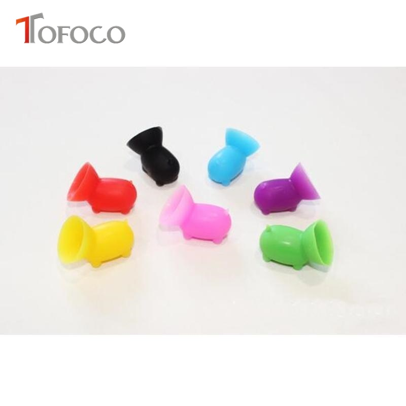 TOFOCO 2pcs Pig Suction Silicone Phone Stand Holder For iPhone 7 6 plus 5s Samsung
