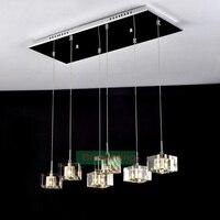 Современный подвесной светильник столовая подвесной светильник кристалл столовая лампы старинные бар лампы, подвесные светильники обеден