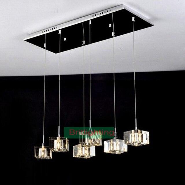 Moderno colgante luz comedor lámpara colgante de cristal de comedor ...