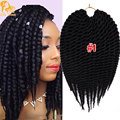 12Inch Spring Havana Mambo Twist Crochet Pre Braided Crochet Braids Senegalese Twist 80G Twisted Crochet Hair Extensions