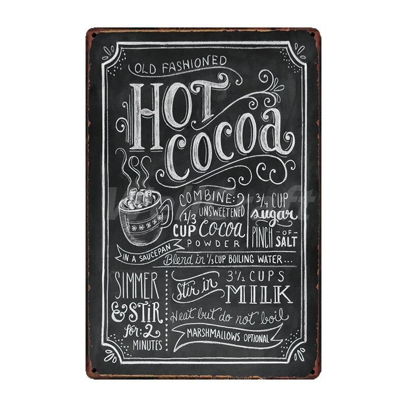 [WellCraft] кофе Коктейль любовь торт чай жестяная вывеска настенные таблички на заказ металлическая живопись античный подарок Бар Паб Декор LT-1704 - Цвет: SA-2622