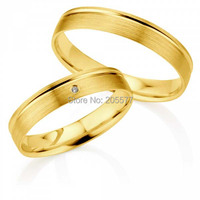 Elegant Jewelry Gold Plating Titanium Party Wedding Anniversary Couples Rings Sets