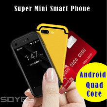 Cute!Super Mini Android Smart Phone SOYES 7S 8S i8 MTK Quad Core 1GB+8GB 5.0MP Dual SIM Cell Mobile Phone X redmi Golden color(China)