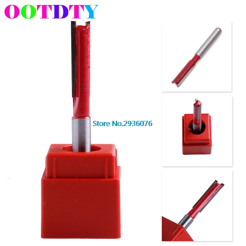 1/4 Shank 1/4 Blade Woodworking Double Flutes Straight Router Bit Cutter APR5_30 wood cutter 1 4 x 1 4 two flutes blades straight router bit tool