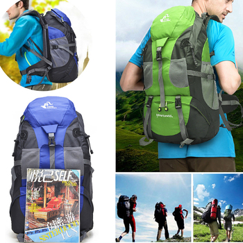Hot 50L Large Waterproof Climbing Hiking Backpack Rain Cover Bag Camping Mountaineering Backpack Sports Outdoor Bike Bag 2