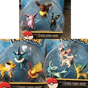 Image 5 - TAKARA TOMY figuras de Anime, eeveee, Glaceon, Vaporeon, Jolteon, Flareon, Leafeon, figuras de anime, figuras de acción de juguete, regalo para niños