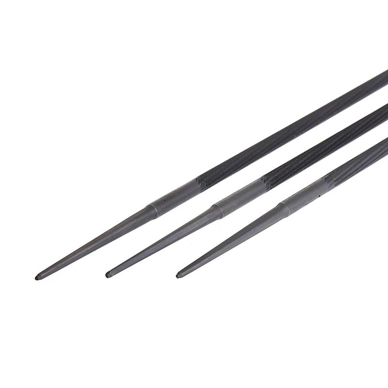 3x Pro 4mm Runde Kettensäge Kette Dateien Einreichung Spitzer Für Holz Neue 2017 Handwerkzeuge Dateien