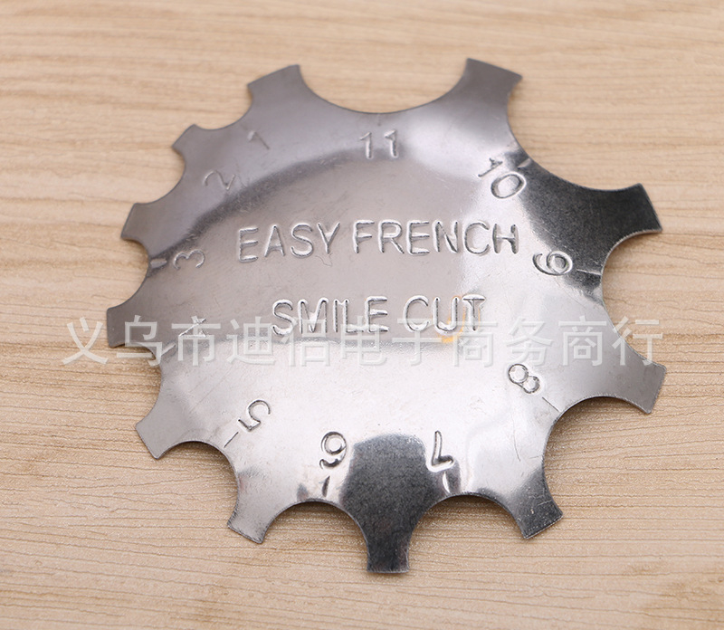 50 PCS / LOT Stainless Iron Metal Easy French Nail Builder Cutter ...