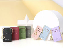 Women Slim ID Credit Card Holder Pocket Case Purse Wallet Business PU Leather