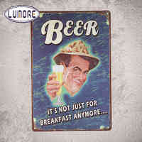 """Craft gifts Beer Ads Tin Metal Sign Bar Pub Decor D167 -""""It's Not Just For Breakfast Anymore"""" 8*12inch"""