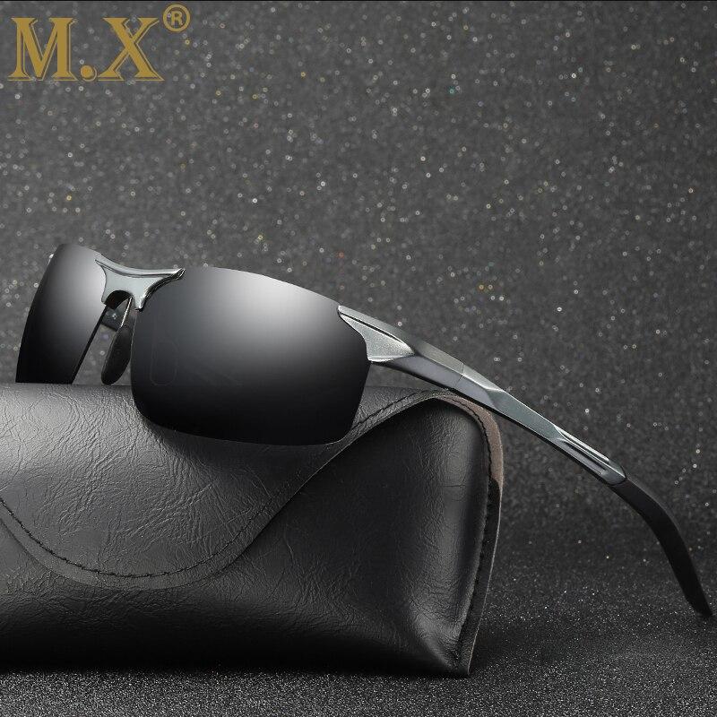 2019 Homens Dos Óculos De Sol de Alumínio E Magnésio Óculos Polarizados Condução Desportiva Óculos de Visão Noturna Óculos De Sol de Pesca UV400 Sem Aro Óculos de Sol