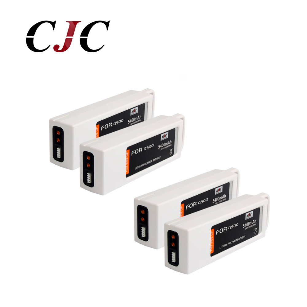 4PCS 5400mAh 11.1V Lipo Battery For Yuneec Q500 Series RC Drone 11.1V 3S/3 Cell Rechargeable Battery yuneec q500 battery 5400mah 3s 11 1v lipo battery