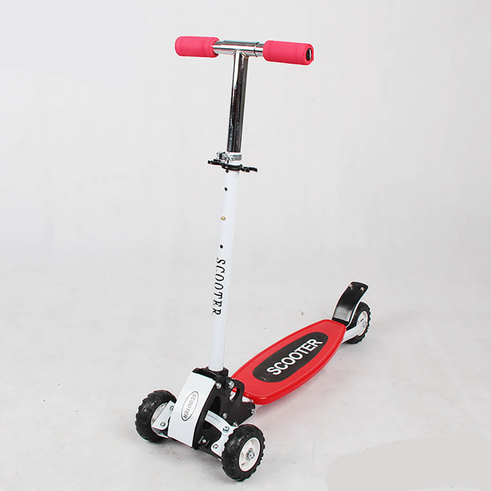 Flashing LED 3 Wheels Removable Kick Scooter Kids Baby Adjustable Height WALKER Skateboard