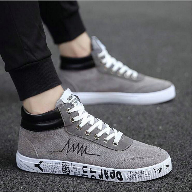 Men Men Shoes Designer Sneakers Fashion  Black Men Lace Up Walking Shoes Canvas Shoes High Top Sneakers Male Casual Sneakers