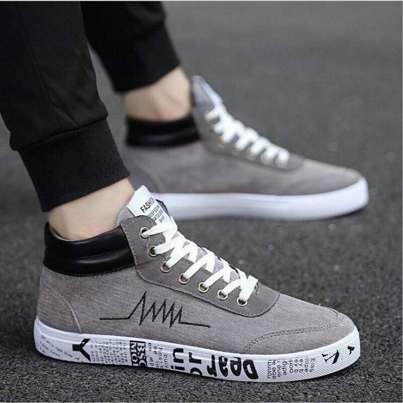 Men Men Shoes Designer Sneakers Fashion  Black Men Lace Up Walking Shoes Canvas Shoes High Top Sneakers Male Casual Sneakers