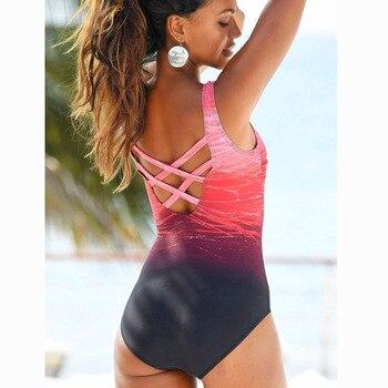 2019 Swimsuit Bathing Suit Costumi Da Bagno Donna Sexy Print Beach Women Bikini Maillot De Bain One Piece Women Swimwear 1