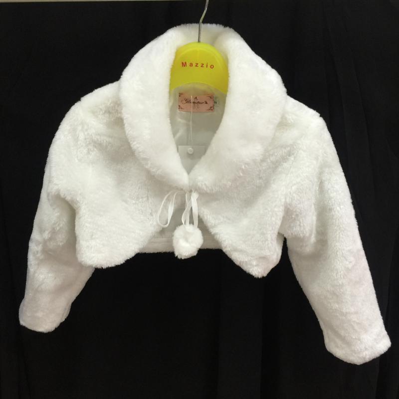 US $15.8 |Hot Sales Kids Top 2 T 10 T Kind Jas Faux Fur Wit Uitloper kids Solid Bloem Meisje jassen Volledige Mouwen Turn Down Kraag 3818 in Hot Sales