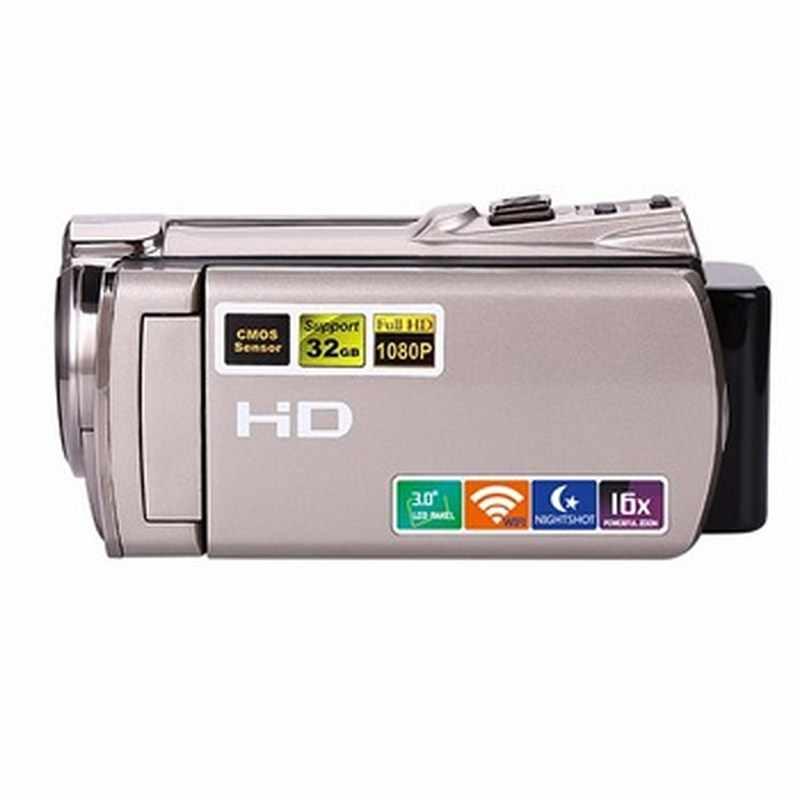 """디지털 비디오 카메라 와이파이 전문 캠코더 dv 16x 디지털 줌 hd ir 나이트 비전 3.0 """"lcd 터치 스크린 사진 카메라"""