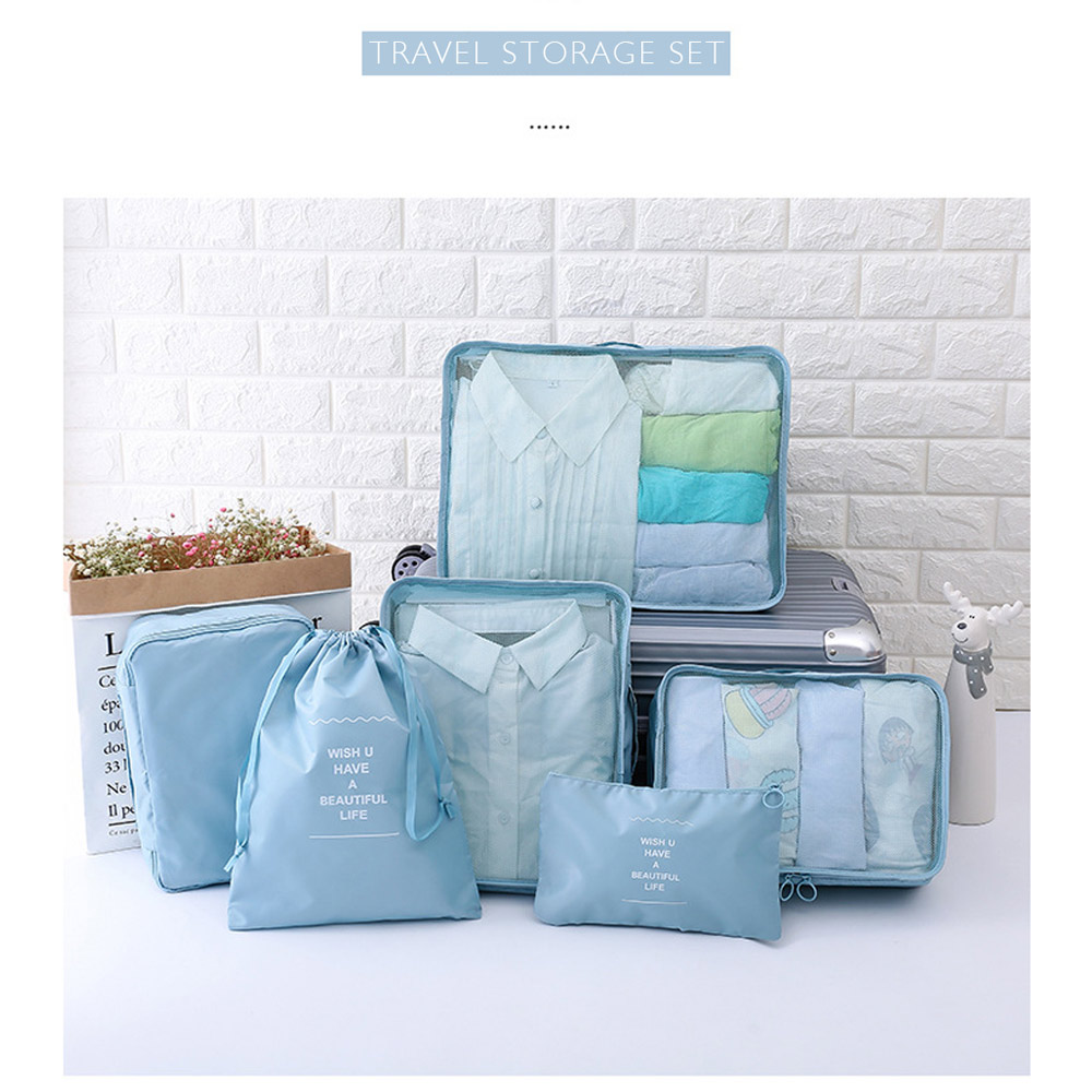 WOOFONE Travel Bag Storage Bag Set 7 Pieces Storage Set Large Capacity Of Unisex Luggage Organizadores Travel Accessories