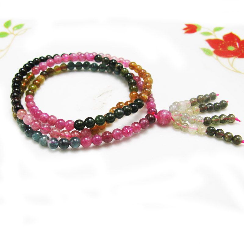 LANZYO Natural tourmaline Bracelets Fine Jewellery Fashion hand string 4mm Candy Bracelet wholesale sc002 buy mens string bracelets