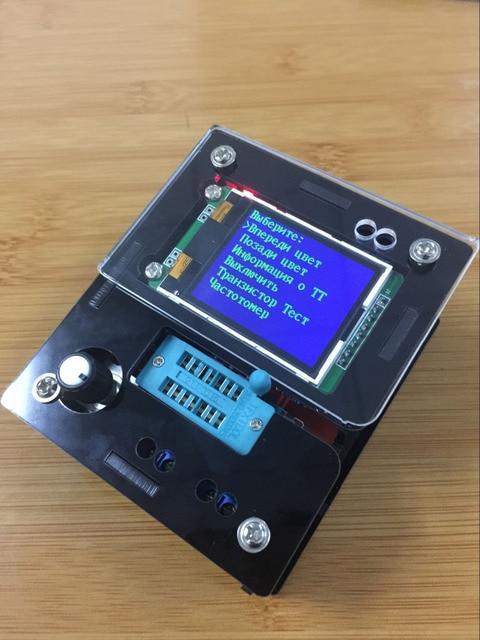 Mega328 Kit DIY de transistores, probador de transistores, medidor de ESR de capacitancia de diodo LCR, PWM, generador de señal de frecuencia de onda cuadrada, 2018