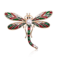 Vintage Design Shinny 1 Colors Crystal Rhinestone Dragonfly Brooches for Women Dress Scarf Brooch Pins Jewelry Accessories Gift