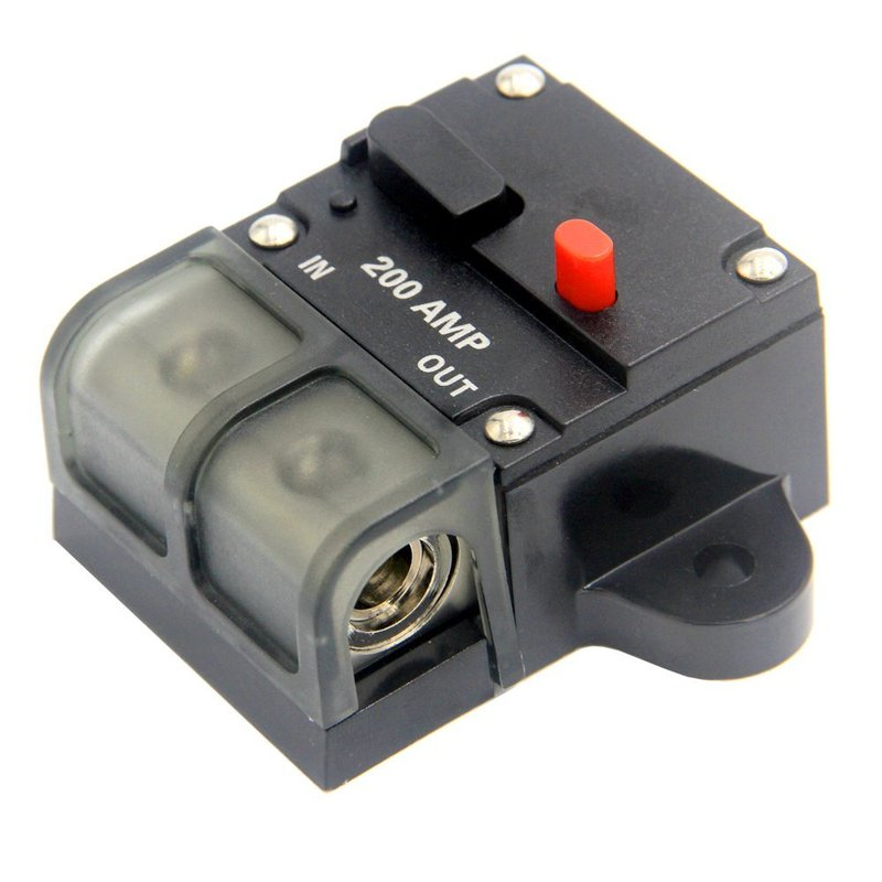 US $15 65 20% OFF 200 AMP Manual Resettable Circuit Breaker Switch Car  Stereo Audio Reset Fuse Holder 12V Auto Replacement Parts Car  Accessories-in
