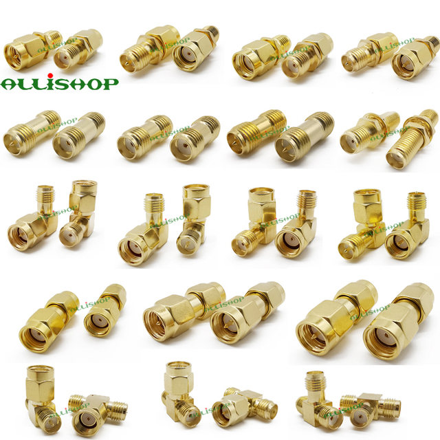 18Pcs SMA Connector Kits Adapter SMA RP SMA Male and Female RF Coax Coupling Nut Converter For WIFI Antenna Extension Cable