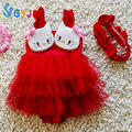Baby swimwear girls 9-18kg red pink cat one pieces baby swimsuits girl infant toddler swimwear swim suit bathing suits for girls