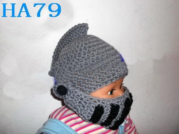 Novelty Children Roman Knight Armor Caps Cool Cute Winter Handmade Knitted  Hats Helmet for Baby Boy Girl Crocheted Beanies-in Hats   Caps from Mother    Kids ... d4e1a8808de