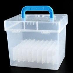 Behogar przezroczyste 80 gniazda przenośne  wodoodporna  odporna na wilgoć  markery długopisy pudełko do przechowywania dla marka długopisy|Przechowywania w domu i biurze|   -