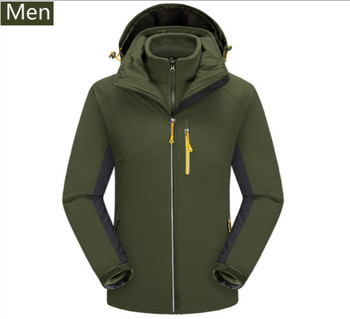 2018 autumn winter new style clothing, Korean version, outdoor cold proof and waterproof two piece mountaineering suit.