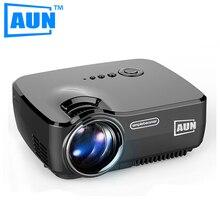 AUN AM01 Proyector 1200 Lúmenes MINI Beamer Ayuda 1920×1080 P Soporte de TV Analógica LLEVÓ el Proyector para Cine En Casa Cable libre de HDMI