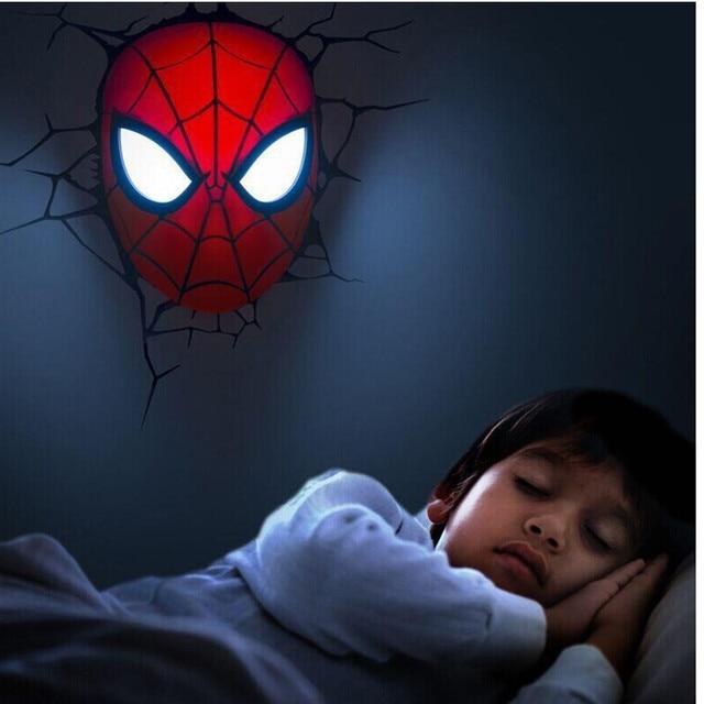 Lampe Murale 3D Spider-man Avengers Infinity
