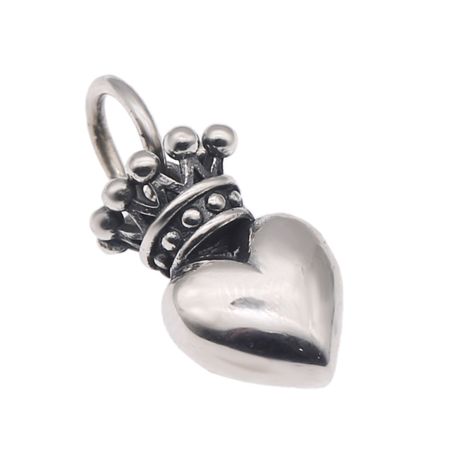 11e4987d4e85 Silver 925 Crown Heart Necklace Pendant For Women Oxide Sterling Silver 925  Jewelry Accessory Sweet Cool