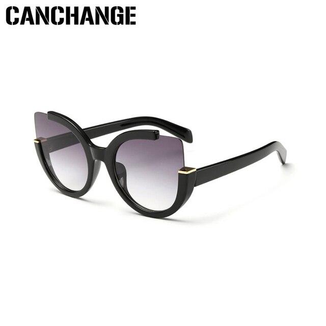 539b50baef CANCHANGE New Cat Eye 2018 Sunglasses Women Brand Designer Cateye Sunglasses  Vintage Sun Glasses For Women