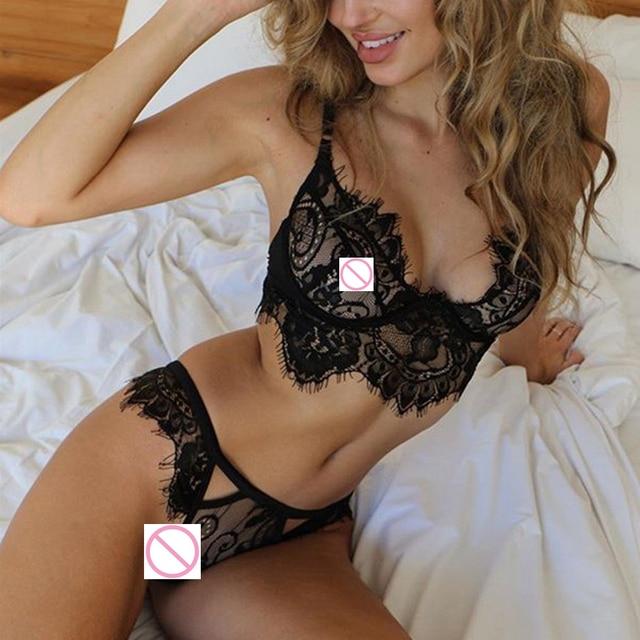 Sexy Erotic Llingerie Lace Babydoll Pajama Open Bra Brief Set Porn Women Sexy Underwear Costumes Intimate Bikini Suit Chemise