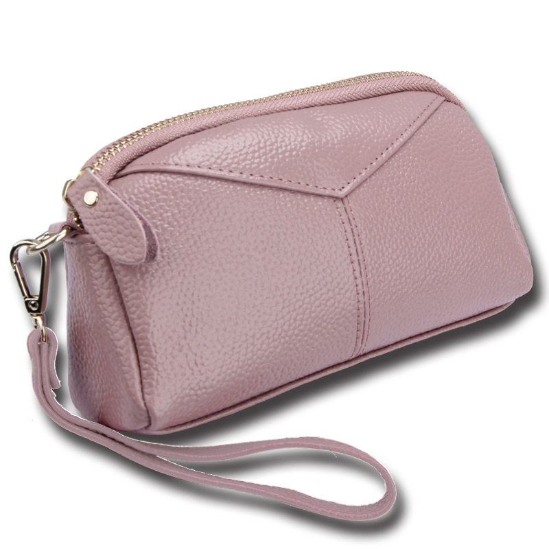 BONAMIE Genuine Leather Women Day Clutch Bags Handbags Women Brands Ladies Wristlet Clutch Wallet Evening Party Bag Female Purse in Clutches from Luggage Bags