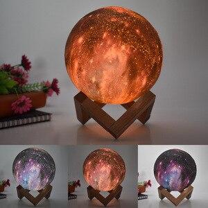 3D طابعة القمر LED جو مصباح المنزل مكتب غرفة نوم الديكور عيد الميلاد كسعماس السنة الجديدة الذكية الإبداعية هدية أضواء ليلية