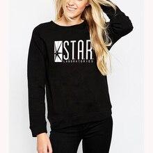 Fashion Autumn Funny American The Flash Sweatshirt Star Laboratories Women Comic Books TV Star Labs Slim Hoodies