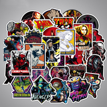 100pcs Marvel Graffiti Stickers Waterproof Character Suitcase Stickers Street Fashion Luggage Stickers Skateboard Removable 56pcs waterproof sunscreen pvc retro decal labels funny removable car fridge luggage suitcase travel graffiti stickers