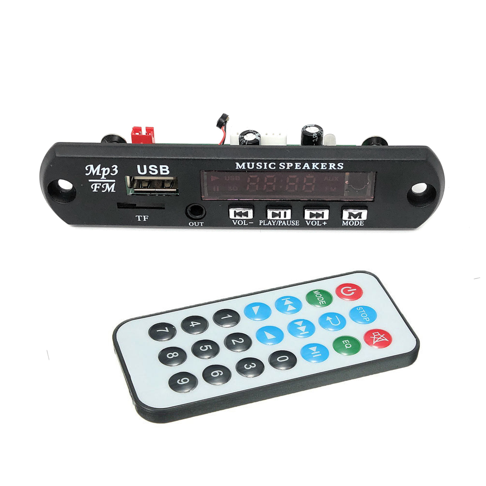 Bluetooth v4.2 + Mic Audio Modul MP3 WMA Player MP3 decoder Modul 5 v 12 v Tf-karte USB/FM/remote display für Android Iphone