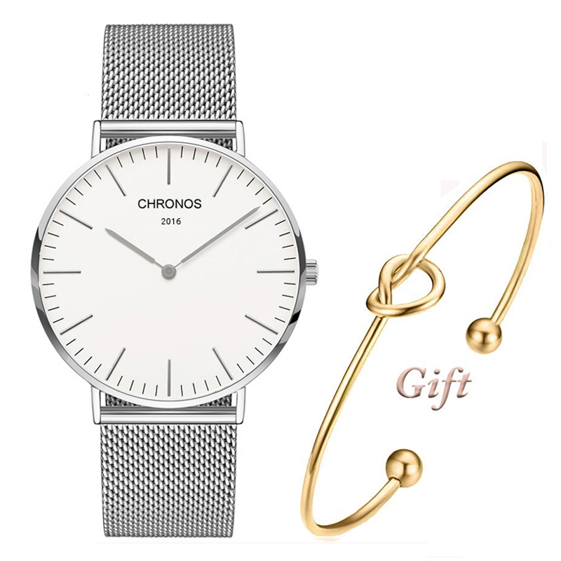 Simple style quartz watch men and women's casual and fashionable watch nylon and PU leather wrist watch