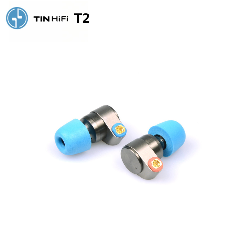 TIN Audio T2 earphones dual dynamic drive HIFI bass earphone DJ metal 3.5mm earplug earphone with MMCX earphones T2 PRO\TFZ\AS10(China)