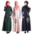 Новый Малайзия Мусульманское Платье турция Исламские Женщины Солнце печати Абая платья фотографии бурка Леди турецкая джилбаба одежды женская одежда